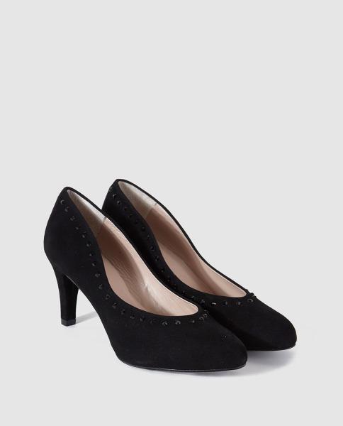 Zapatos negros de tacón medio de Argenta