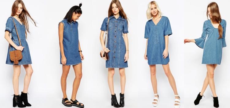 5 vestidos denim para esta primavera 2016