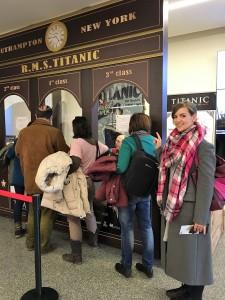 Esperando para sacar mi pasaje para el Titanic