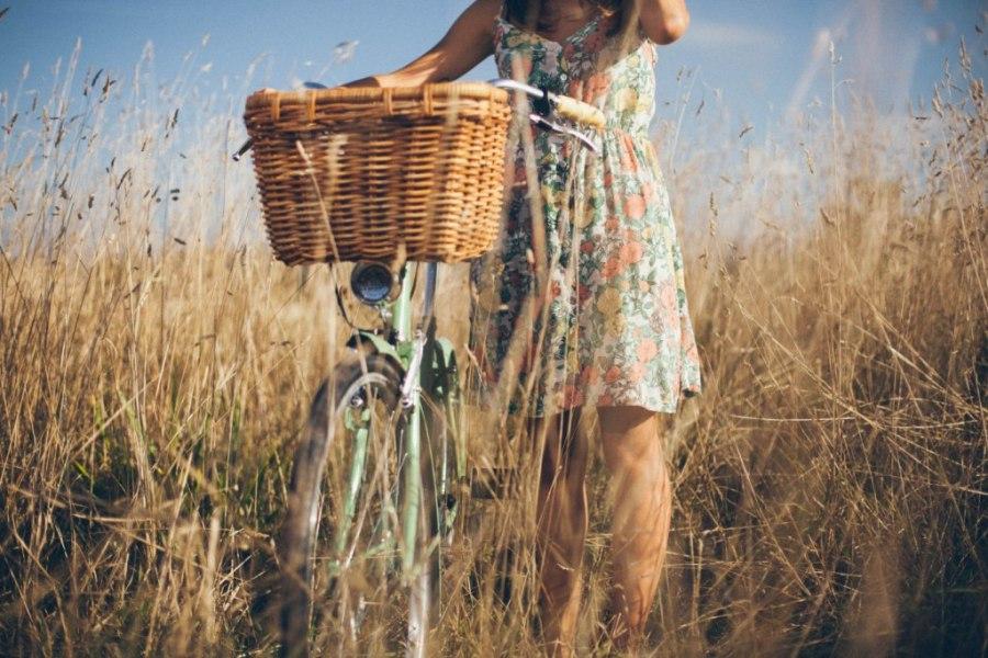 Cestas Victoria de mimbre para bicicletas