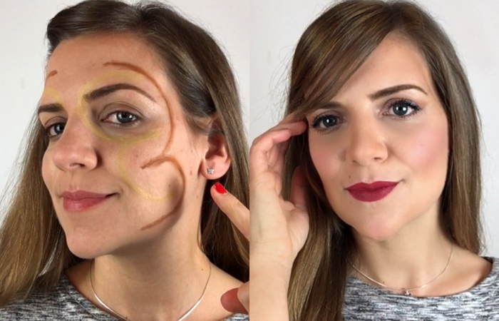 Collage contouring 3 + 3