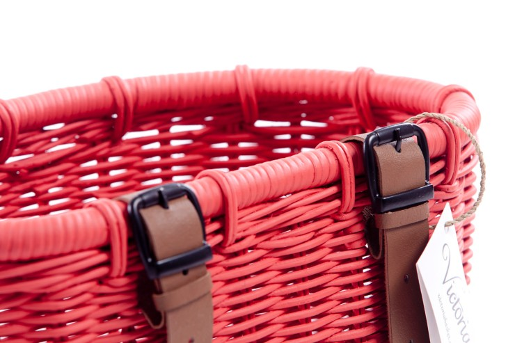 Detalle cestas Victoria para bicicletas