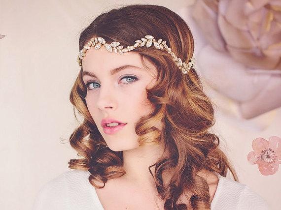 Peinados Novias Pelo Suelto Con Ondas Y Diadema De Pedreria La - Pelo-suelto-novias