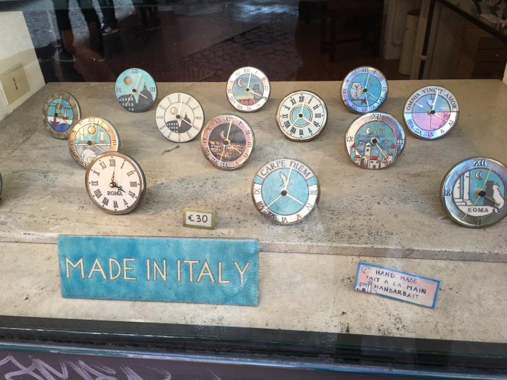 Tiendas de artesanías en Roma