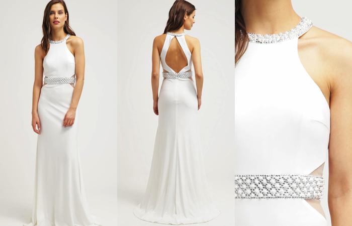 vestido de novia con cuello halter de mascara – la bruja con tacón