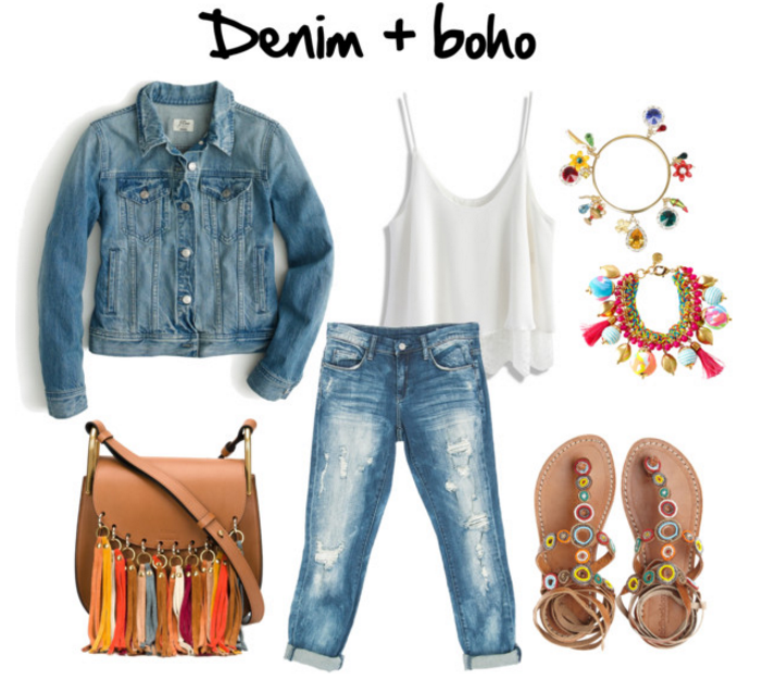 Tendencias primavera 2016 denim boho chic
