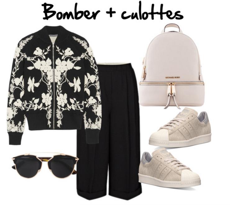 Tendencias primavera 2016 look bomber y culottes