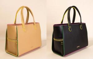 Bolsos Acosta de napa con contrastes de color
