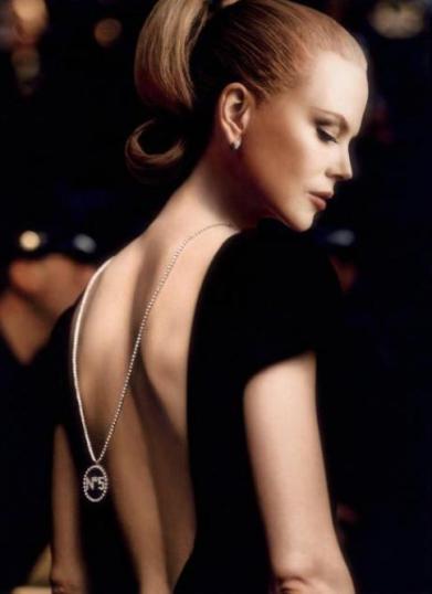 Nicole Kidman escote espalda Chanel n5