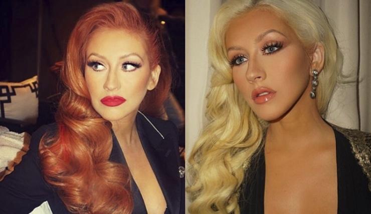 Christina Aguilera se tiñe de pelirroja