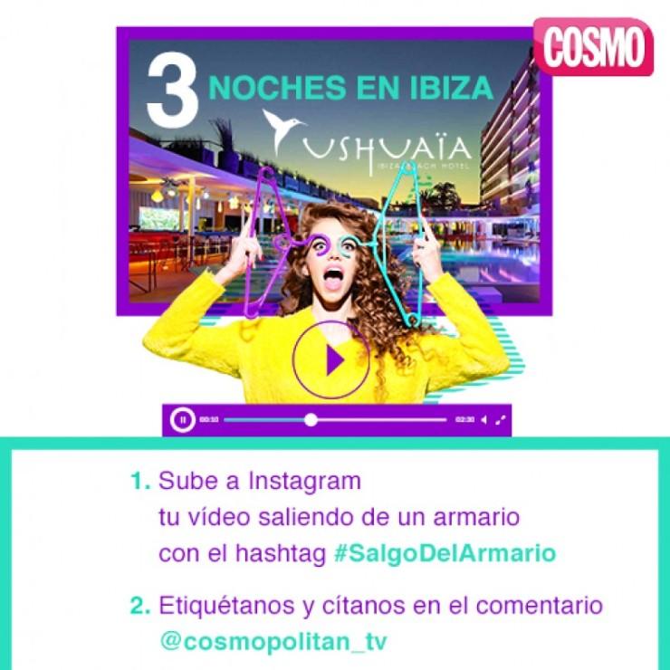Concurso Cosmo Sal del armario en Instagram
