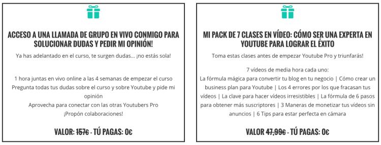 Bonus curso Youtube Pro