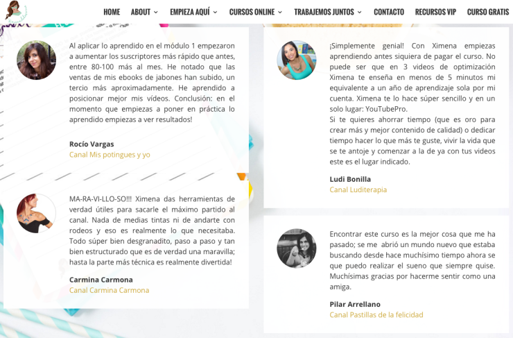 Opiniones curso Youtube Pro de Ximena de la Serna