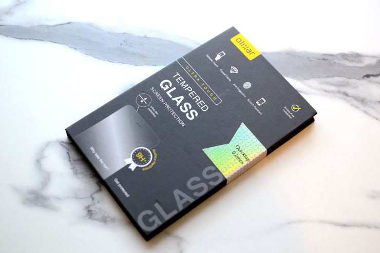 Tempered glass Olixar Quicktap