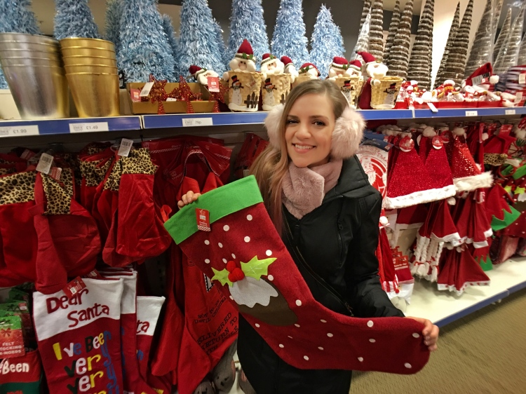 Calcetín gigante para Papá Noel