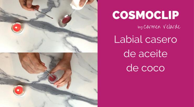 Labial casero de aceite de coco - Cosmoclip