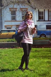 Look sudadera Siroko leggings Calzedonia 05