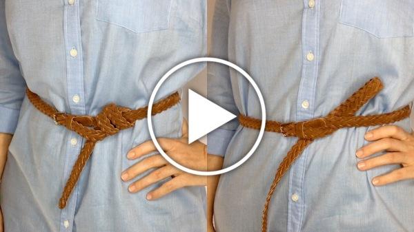 Ver en Cosmo cómo anudar un cinturón largo