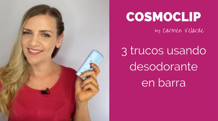 3 trucos de belleza con desodorante en barra