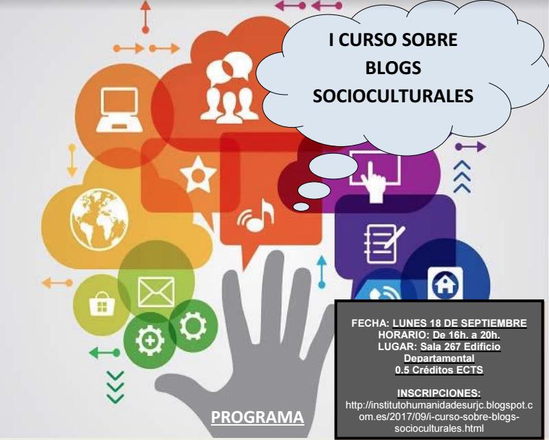 I Curso de Blogs Socioculturales Instituto de Humanidades URJC