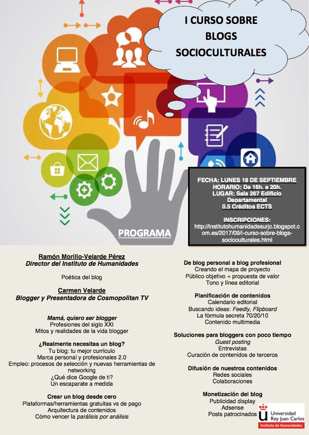 Programa Curso Blogs Sociocultural URJC