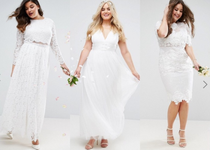mejor coleccion 100% autenticado descuento mejor valorado 3 vestidos low cost para novias curvy – La Bruja con tacón ...