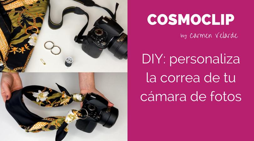 DIY personaliza la correa de tu cámara de fotos