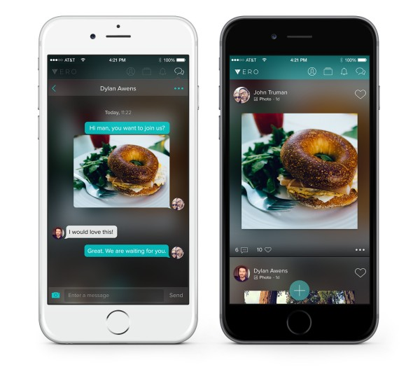 Vero True Social App chat