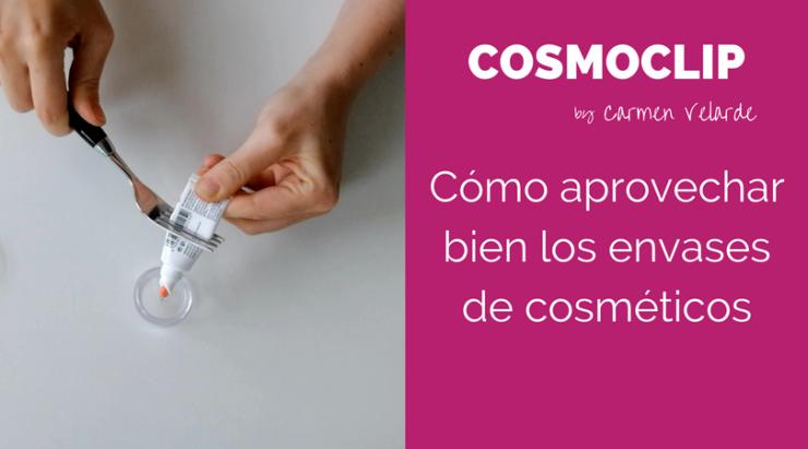 Trucos para aprovechar los envases de cosméticos