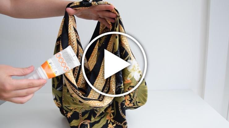 Ver en Cosmo vídeo - truco para convertir un pañuelo en un bolso