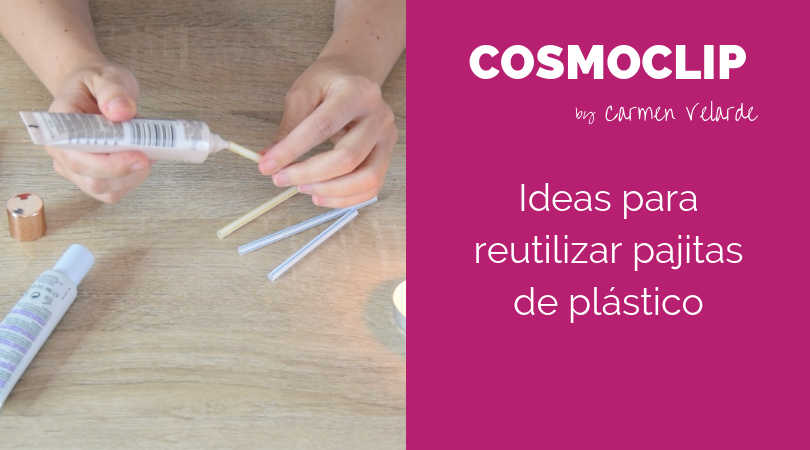 Ideas para reutilizar pajitas de plástico