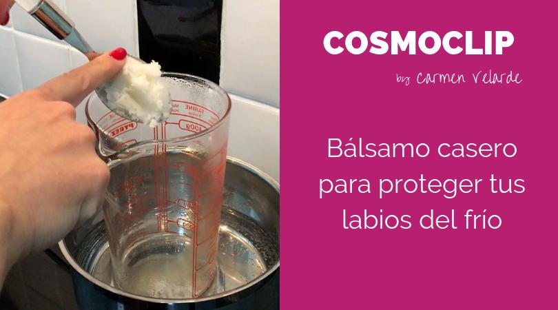 Bálsamo casero de aceite de coco para proteger tus labios del frío