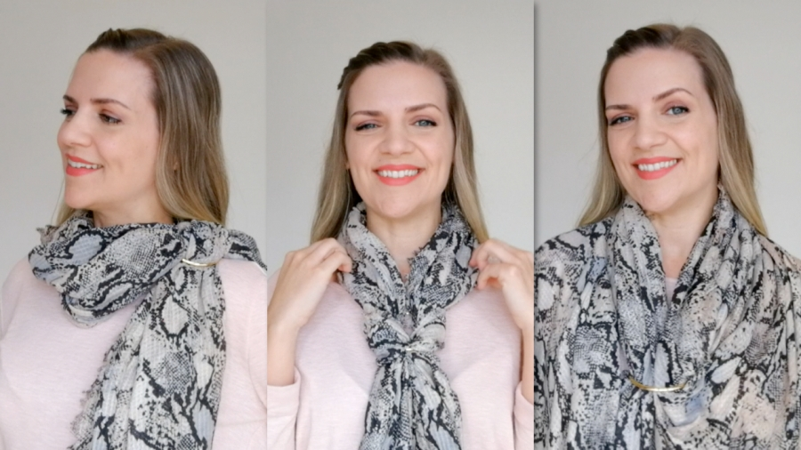 tres formas de llevar un fular con una pulsera