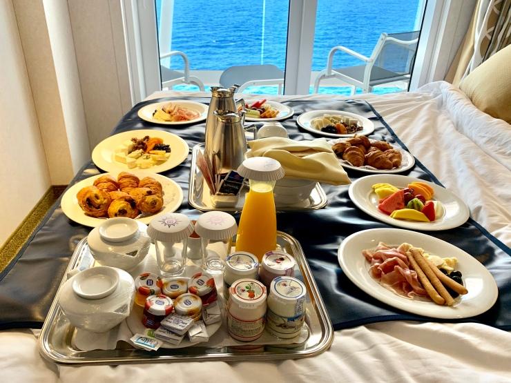Desayuno de recién casados en el MSC Bellissima