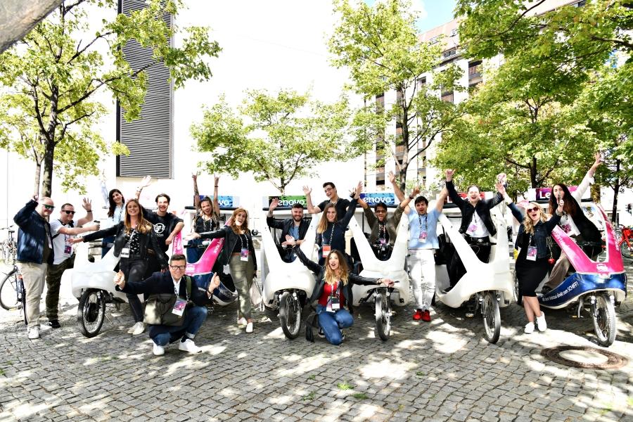 Paseo en velotaxi por Berlín - IFA 2019