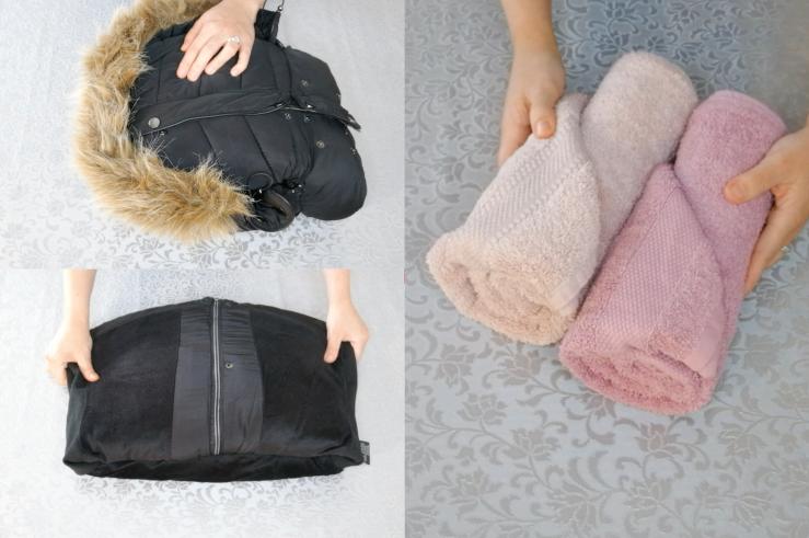Cómo doblar abrigos y toallas