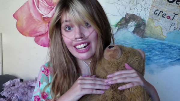 Claire Wineland labor bear