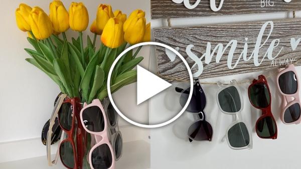 Ver en Cosmo ideas para almacenar y ordenar gafas de sol