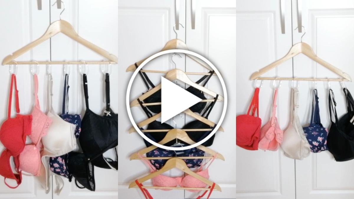 DIY para colgar sujetadores - vídeo