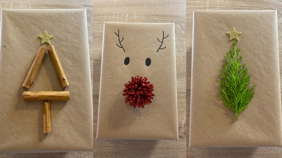 DIY - Ideas fáciles para adornar regalos de Navidad