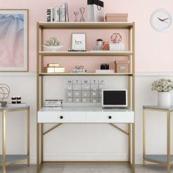 Estanterías con escritorio incorporado (2)